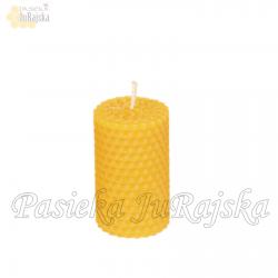 Świeca z wosku pszczelego 7 cm x 4 cm 3 szt