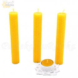 Świeca z wosku pszczelego 17 cm x 2,5 cm