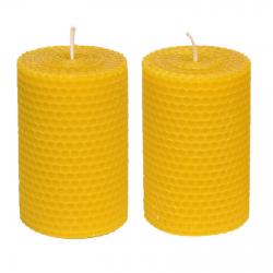 Świeca z wosku pszczelego 10 cm x 6 cm 2 szt