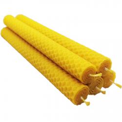 Świeca z wosku pszczelego 20 cm x 2 cm 5 szt