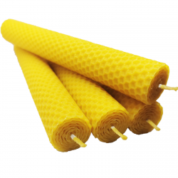 Świeca z wosku pszczelego 20 cm x 3 cm 4 szt